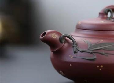 许华芳紫砂壶作品|原矿底槽清合欢竹壶470CC手制真品价格
