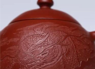 王玉芳紫砂壶作品|小煤窑朱泥龙旦壶260CC手工正品多少钱