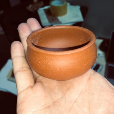 紫砂茶杯 段泥小口杯
