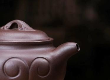 陈浩紫砂壶作品 仿古如意壶 原矿老紫泥 260cc  助理工艺美术师 陈浩紫砂壶价格,多少钱