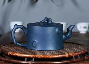 陈浩紫砂壶作品 树桩壶 原矿极品墨绿泥 320cc  助理工艺美术师 陈浩紫砂壶价格,多少钱