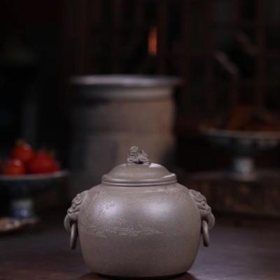 单益芳作品 汲古茶仓