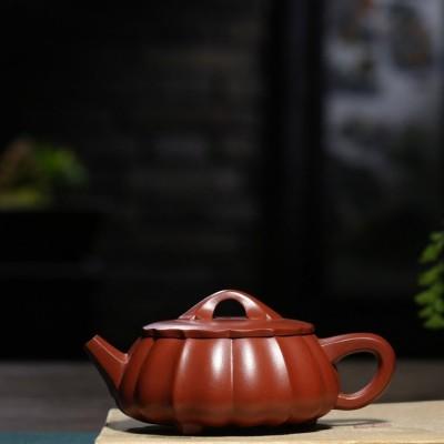 胡小香作品 筋纹扁石瓢壶