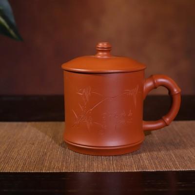 陈伟宝作品 全手工紫砂杯竹香盖杯
