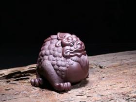 悠然紫砂作品 招财金蟾