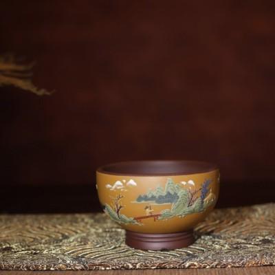 孙红英作品 彩绘主人杯紫砂品茗杯