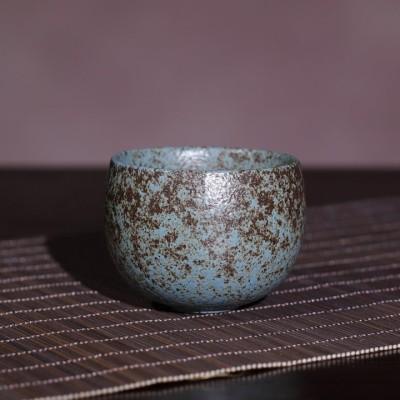 悠然紫砂作品 粗陶日式陶瓷主人杯