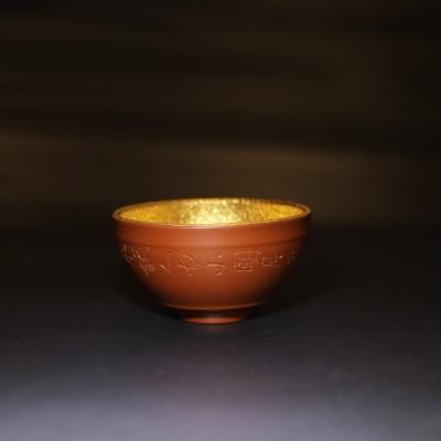 石丁作品 紫砂鎏金杯
