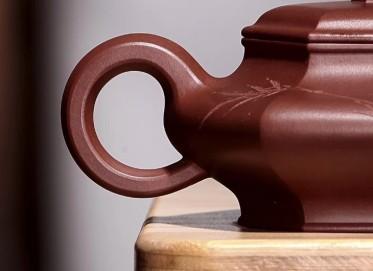 陈顺根紫砂壶作品 六方舒扁壶 原矿底槽清 220cc 方器 高级工艺美术师 陈顺根紫砂壶价格,多少钱