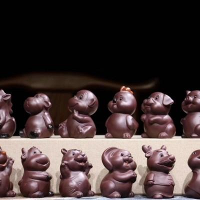 悠然紫砂作品 十二生肖
