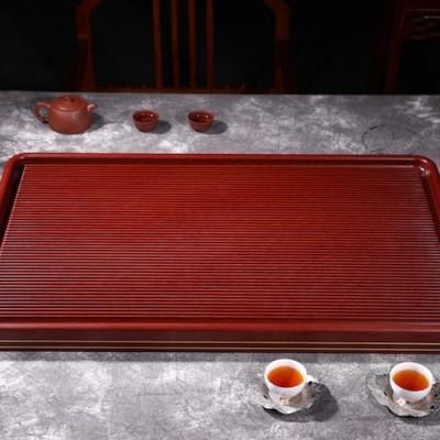 悠然紫砂作品 黑檀木茶盘