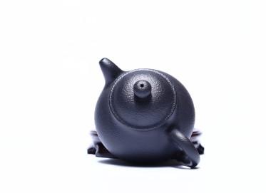 姚华君紫砂壶作品 潘壶 黑铁砂 180cc  工艺美术师 姚华君紫砂壶价格,多少钱
