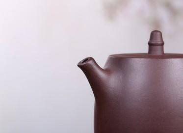 张正元紫砂壶作品 汉铎壶 紫泥 440cc 光器 民间艺人 张正元紫砂壶价格,多少钱