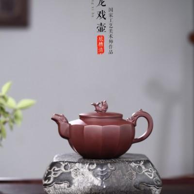 邵云琴作品 鱼龙戏壶