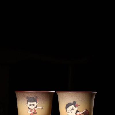 吕霞作品 哪吒对杯