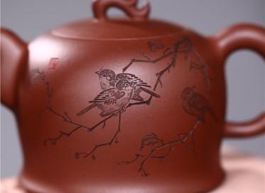 张雪军紫砂壶作品 原矿清水泥花语流香壶 300CC 国家级工艺美术师 张雪军紫砂壶价格,多少钱