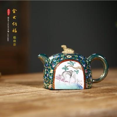 邵美华作品 金犬纳福