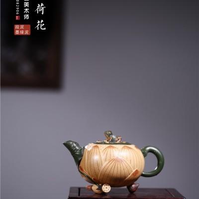 范菊英作品 青蛙荷花