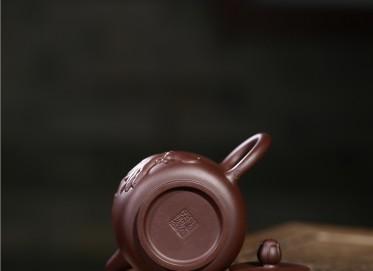 顾旭英紫砂壶作品 静莲壶 紫泥 340CC 国家级工艺美术师 静莲紫砂壶价格,多少钱