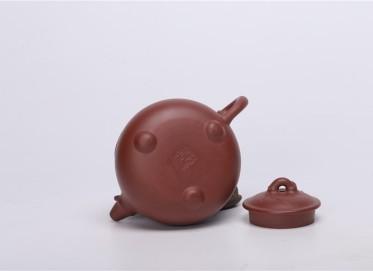 汤鸣皋紫砂壶作品 园竹壶 原矿清水泥 230CC 研究员级高级工艺美术师 园竹紫砂壶价格,多少钱