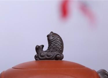 朱建伟紫砂壶作品 溪山祥和壶 原矿清水泥 410CC 研究员级高级工艺美术师 溪山祥和紫砂壶价格,多少钱