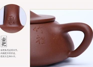 束旦生紫砂壶作品 石瓢壶 底槽清 420CC 研究员级高级工艺美术师 石瓢紫砂壶价格,多少钱