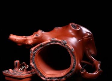 张剑紫砂壶作品 原矿清水泥蛙趣壶 550CC 国家级工艺美术师 张剑紫砂壶价格,多少钱