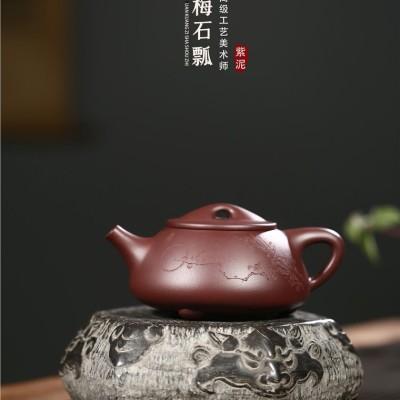 吴赛春作品 傲梅石瓢