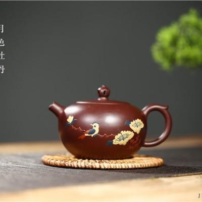 顾旭英作品 月色牡丹