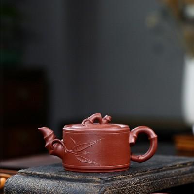 陈惠红作品 竹段壶
