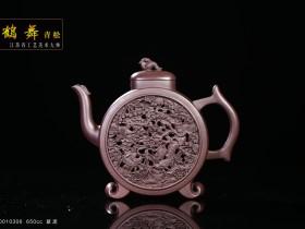 紫砂鉴赏丨吴小楣·鹤舞青松壶