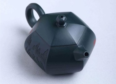 陈俊紫砂壶作品 天青泥六方西施壶 220CC 国家级工艺美术师 陈俊紫砂壶价格,多少钱