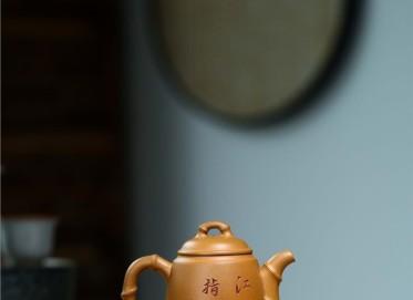 赵明敏紫砂壶作品|原矿黄金段泥节节高升壶180CC纯手工真品价格表