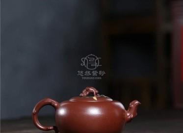 蒋艺华紫砂壶作品|原矿紫泥花开富贵壶320CC手工正品价值