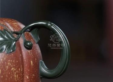 蒋艺华紫砂壶作品 原矿清水泥南瓜壶420CC全手工真品价格