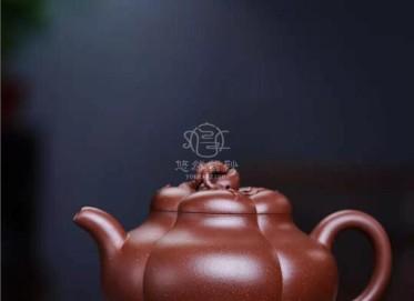 李洪明紫砂壶作品 原矿底槽清上合桃壶600CC手制正品价格表