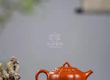李洪明紫砂壶作品|原矿大红袍禅墩.唯心壶420CC手工真品价格表