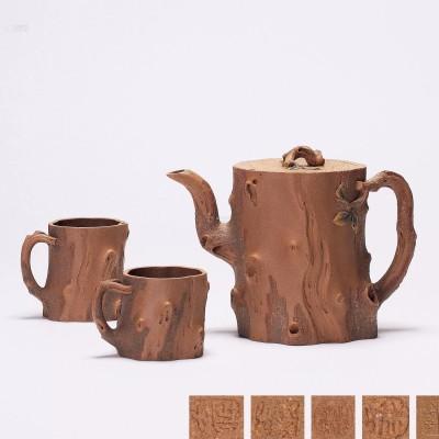 紫砂壶拍卖|张正中制《树桩壶套具》拍出63万元
