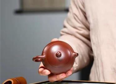 杨鹏紫砂壶作品 石红料西施壶120CC纯手工真品价格
