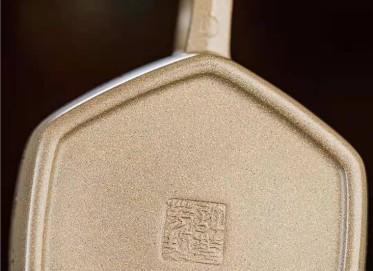 许华芳紫砂壶作品 原矿青段泥六方德钟壶260CC纯手工正品价值