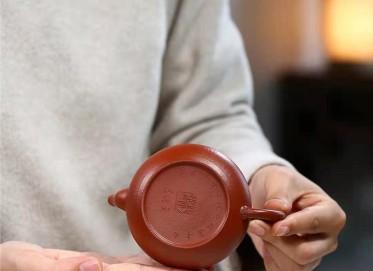 杨鹏紫砂壶作品|小煤窑朱泥君德壶180CC手制正品多少钱