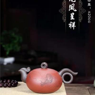 邱爽作品 龙凤呈祥