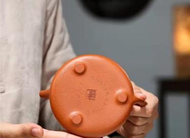 杨鹏紫砂壶作品|原矿降坡泥石瓢壶200CC纯手工真品价格
