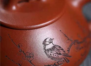 许华芳紫砂壶作品|原矿红皮龙福瓢壶260CC全手工正品价格表