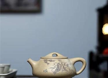 范林强紫砂壶作品 本山段泥景舟石瓢壶320CC手制正品价格