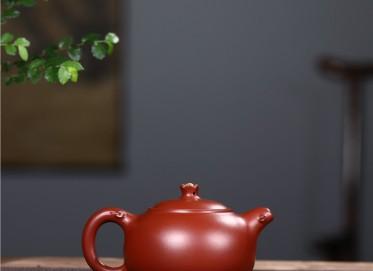 史宗娟紫砂壶作品 原矿大红袍花开富贵壶250CC手工正品价值