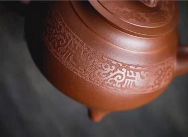牟锦芬紫砂壶作品|原矿底槽清龙尊壶620CC全手工真品价值