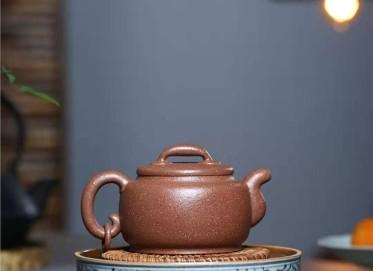 陈亚萍紫砂壶作品|桂花砂泥瑞丰壶340CC纯手工真品价格表