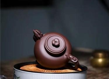 王岳龄紫砂壶作品|原矿紫泥和鸣壶300CC手工正品价格