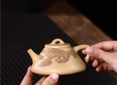 范君浩紫砂壶作品|原矿段泥子冶石瓢壶250CC全手工正品多少钱